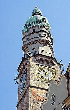 La torre della città di Innsbruck.