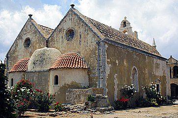Chiesa dei fiori del convento Arkadi a Creta.