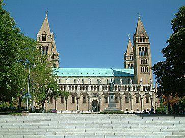 La cattedrale di Pecs.