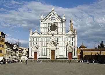 La Basilica di Santa Croce a Firenze.