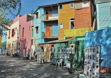 Case colorate a San Telmo, Buenos Aires.