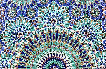 Mosaico orientale presso la Moschea Hassan II a Casablanca.