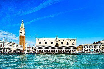 Piazza San Marco a Venezia, vista dal mare.