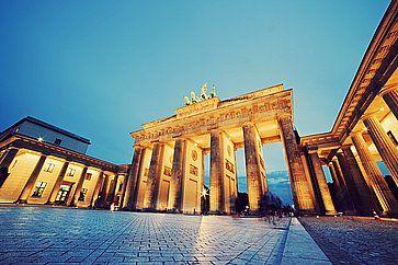 La Porta di Brandeburgo a Berlino.