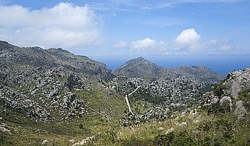Serra de Tramuntana, a Maiorca.