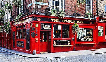 Il famoso Temple Bar di Dubllino.