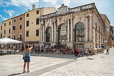 City Lodge in Piazza del Popolo a Zadar, Croazia.