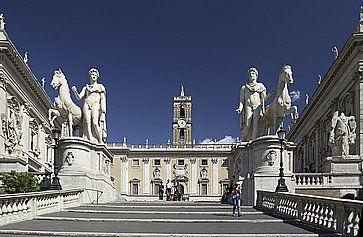 Le scale che portano al Campidoglio a Roma.