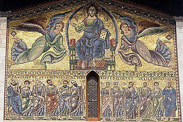 Mosaico alla Basilica di San Frediano a Lucca.