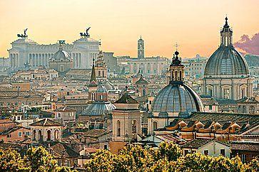 Vista di Roma da Castel Sant'Angelo.