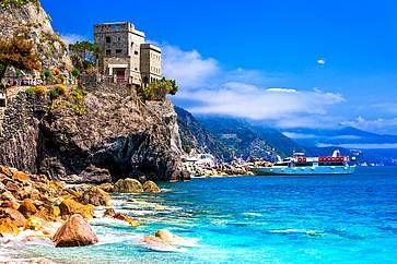 Panoramica di Monterosso al Mare, nelle Cinque Terre.