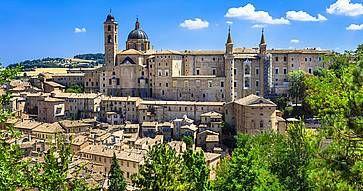 Vista panoramica di Urbino.