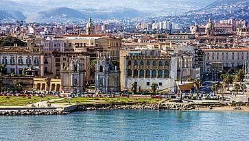 Vista di Palermo dall'alto.