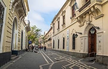 La strada Obispo Trejo a Cordoba.