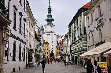 La porta di San Michele a Bratislava.