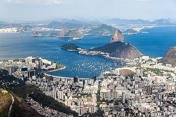 Veduta aerea di Rio de Janeiro.