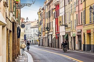 Il centro storico di Parma.