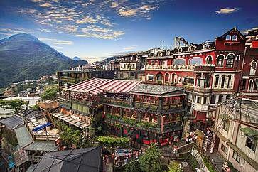 La storica zona di Jiufen a Taipei.
