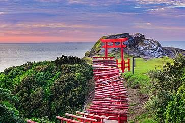 Il Santuario Motonosumi Inari nella prefettura di Yamaguchi.
