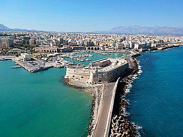 Vista aerea di Iraklion, Creta.