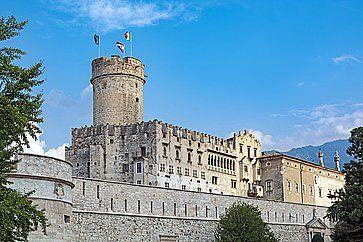 Il castello del Buonconsiglio a Trento.