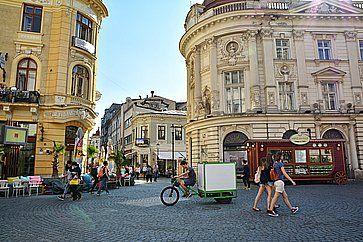 Il centro di Bucharest, nel quartiere Lipscani.