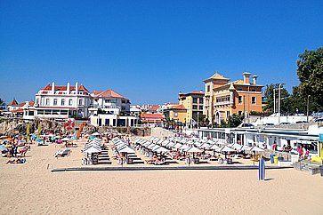 Spiaggia a Lisbona.