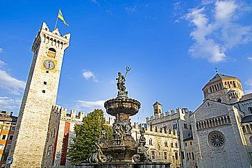 Piazza Duomo a Trento.