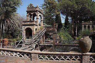 L'antica Villa Comunale di Taormina, nel parco.