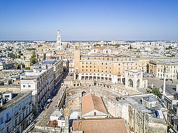 Centro storico di Lecce, dall'alto.
