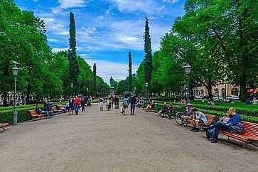 L'Esplanade Park ad Helsinki.