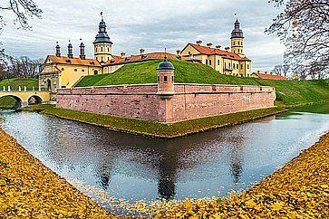 Il palazzo e il castello a Nesvizh.