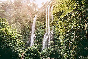 Le cascate di Sekumpul a Bali.