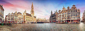 Panorama della Grand Place, a Bruxelles.