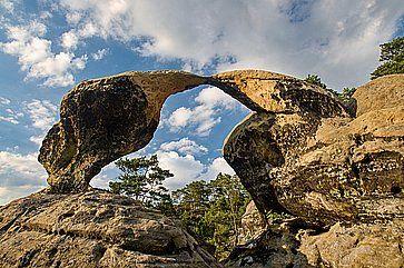 Formazione rocciosa vicino a Prihrazy.