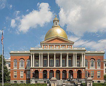 La Massachusetts State House.