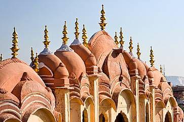 I tetti di di Hawa Mahal, nel Rajasthan.