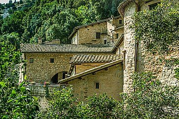 L'Eremo delle Carceri ad Assisi.