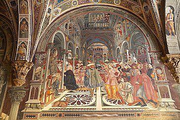 Affresco al Complesso museale di Santa Maria della Scala a Siena.