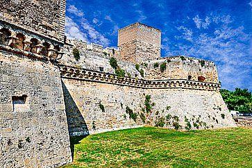 Il Castello Svevo a Bari.