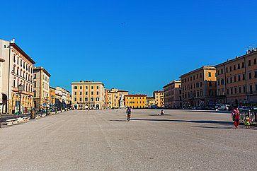 Piazza della Repubblica a Livorno.