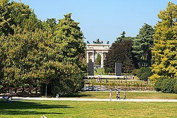 Arco della Pace a Parco Sempione a Milano.