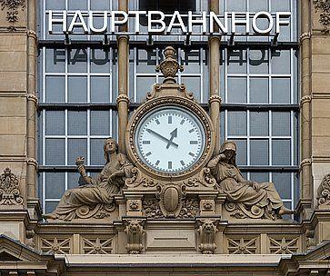 La Hauptbahnhof, o stazione centrale di Francoforte.