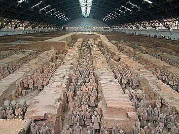 Guerrieri di terracotta a Xian.