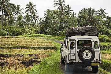 Avventura in Jeep nella natura.