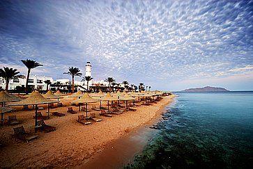 Spiaggia ed Oceano a Sharm el Sheikh.