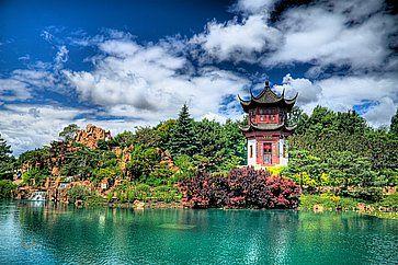Il Chinese Garden al Montreal Botanical Gardens.