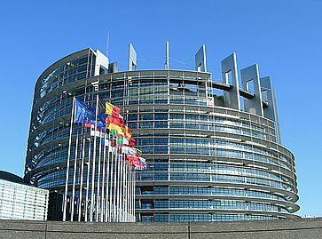 L'edificio del Parlamento Europeo, a Strasburgo.