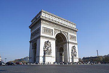 Il monumento dell'Arco di Trionfo.