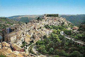 Vista del paesaggio di Ibla, in Sicilia.